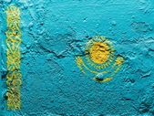 The Kazakh flag — Stock Photo
