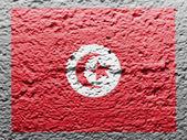 突尼斯国旗 — 图库照片