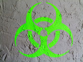 Biohazard sign painted on wall — Stock Photo