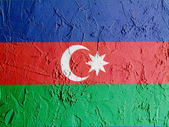 The Azerbaijani flag — Stockfoto