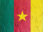 The Cameroonian flag — Stockfoto