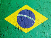 The Brazilian flag — Stockfoto