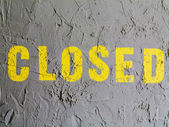 Closed caption painted on wall — Stock Photo