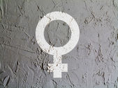 Male sign drawn at wall — Stock Photo