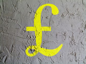 Pound sign painted on wall — Stock Photo