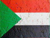 The Sudan flag — Stockfoto
