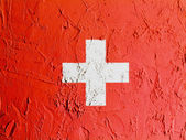The Swiss flag — Stockfoto