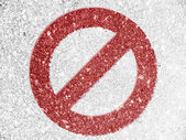 Forbidden sign painted on — Stock Photo