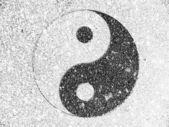 Ying yang işareti boyalı — Stok fotoğraf