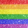 Stock Photo: Gay pride flag painted on