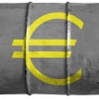 Euro currency sign painted on oil barrel — Stock Photo #15391885