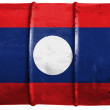 The Laotian flag - Stock Photo