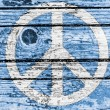 Stock Photo: Peace symbol painted on