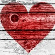 Red Heart symbol painted on — Stock Photo