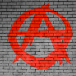 Anarchy symbol painted on — Stock Photo