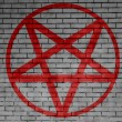 Pentagram symbol painted on - Stock Photo