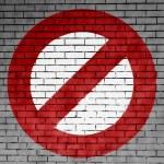 boyalı yasak işareti — Stok fotoğraf