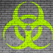 Biohazard sign painted on — Stock Photo