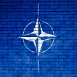 NATO symbol painted on — Stock Photo #15394557