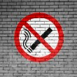 Stock Photo: No smoking sign drawn at