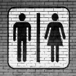 Toilet sign painted on — Stock Photo #15395439