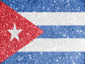 The Cuban flag — Stockfoto