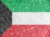 The Kuwaiti flag — Foto de Stock