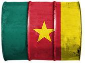 Kamerunský vlajka — Stock fotografie