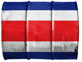 The Costa Rica flag — Stock Photo