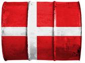 Den danska flaggan — Stockfoto