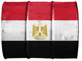 The Egyptian flag — Stock fotografie