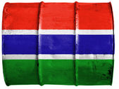 The Gambia Flag — Stock Photo