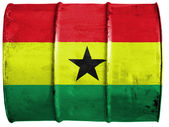 La bandera de ghana — Foto de Stock