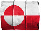 The Greenland flag — Foto de Stock