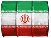 Die iranischen flagge — Stockfoto