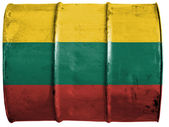 The Lithuanian flag — Foto Stock