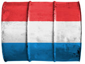 The Luxembourg flag — Stockfoto