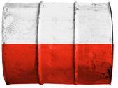 Den polska flaggan — Stockfoto