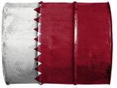 το κατάρ σημαία — Stock fotografie