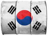 Sydkorea flagga — Stockfoto