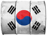 Vlajka jižní koreje — Stock fotografie