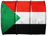 La bandiera del sudan — Foto Stock