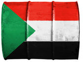 苏丹国旗 — 图库照片