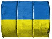 Den ukrainska flaggan — Stockfoto