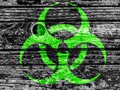 Biohazard sign painted on — Stock Photo