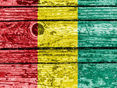 The Guinean flag — Foto de Stock