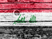 The Iraqi flag — Stock Photo