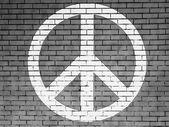 Bu barış işareti boyalı — Stok fotoğraf