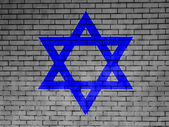 Jewish star painted on — Stock Photo
