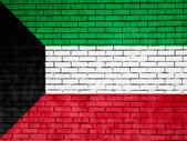 The Kuwaiti flag — Stock Photo